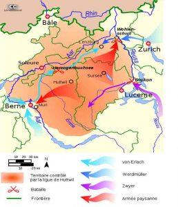 Carte de la Guerre des Paysans