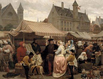 Une_foire à Gand au Moyen Age