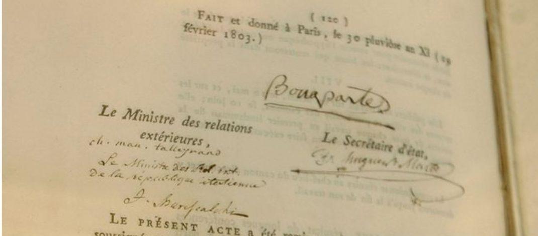 Acte de médiation entre 1803 et 1811