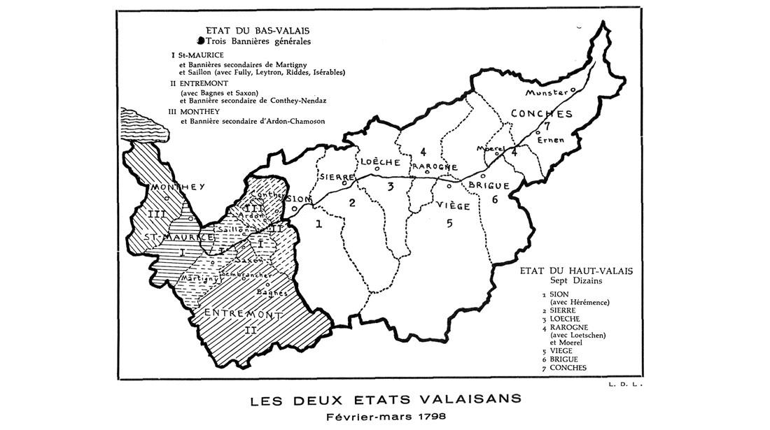Valais 2 états 1798