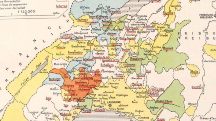 Carte Pays de Vaud ancienne