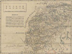 Carte de la Savoie - Suisse
