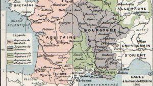 Carte Royaumes des Francs
