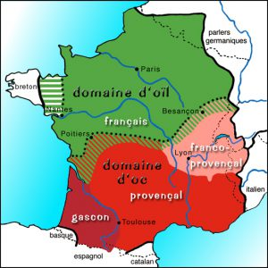 Carte du Français - Source: Unil.ch