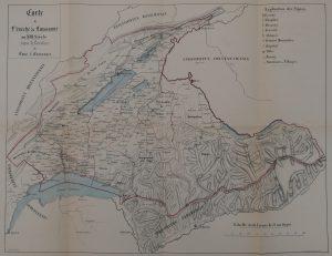 Carte de l'Evêché de Lausanne au 13e siècle