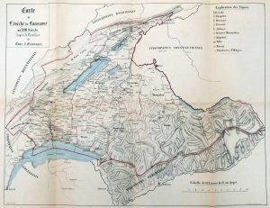 Carte de l'évéché de Lausanne XIIIe