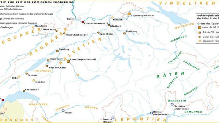 carte helvetie sous rome