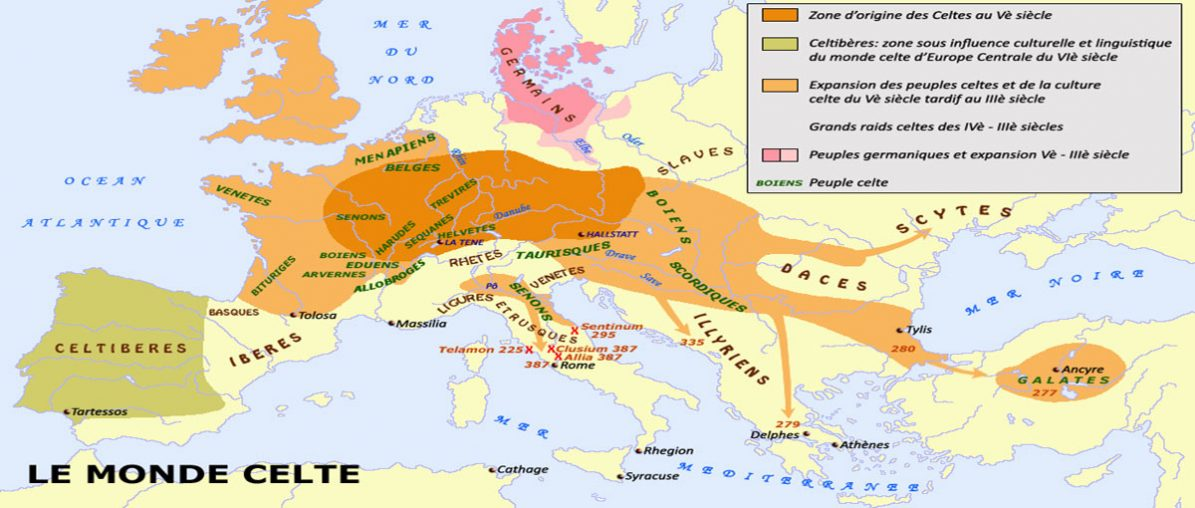 Les Origines des Celtes ou Gaulois   vers env. 4'000 av. J.C: