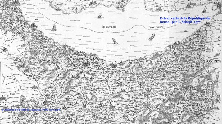 Carte République de Berne par Th. Schlepf - 1578