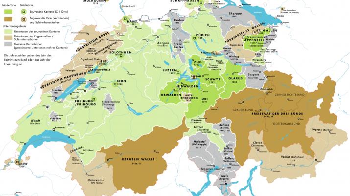 carte suisse au 18e siècle