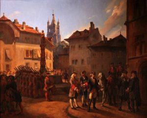 L'arestation de Davel au Château
