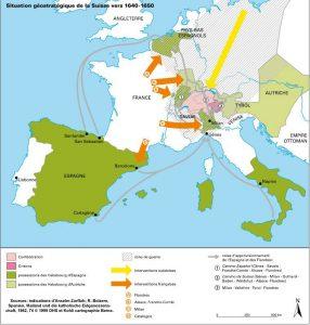 Carte de la Guerre de trente ans