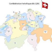 Dates entrées cantons dans Confédération helvétique